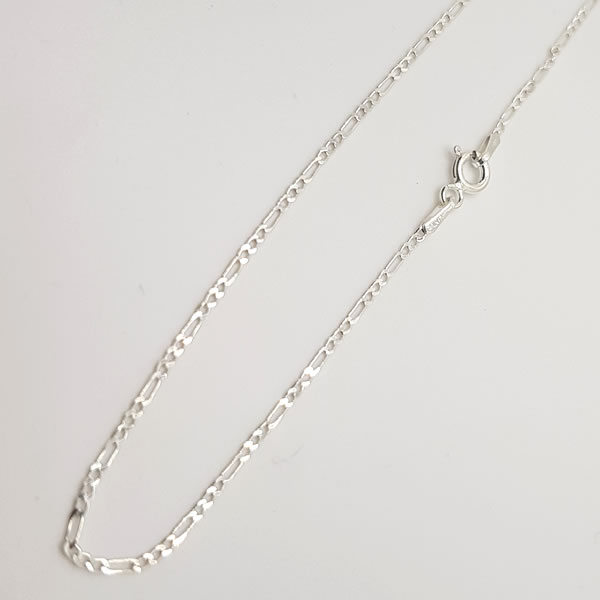 CH20 Figaro 50cm Chain 1mm 925 Sterling Silver