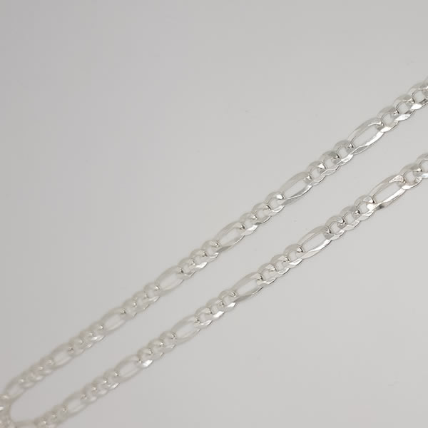 CH27 Figaro 4.5mm chain 925 Sterling Silver