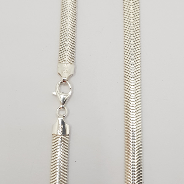 C03 Snake link 925 sterling Silver chain necklace